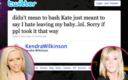 Kendra Wilkinson, Twitter, Kate Gosselin