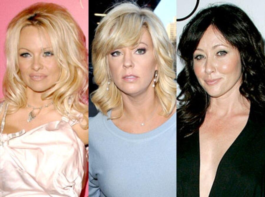 Pamela Anderson, Kate Gosselin, Shannen Doherty