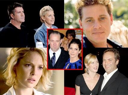 Simon Cowell, Ellen DeGeneres, Corey Haim, Katherine Heigl, Kate Winslet, Sam Mendes, Sandra Bullock, Jesse James