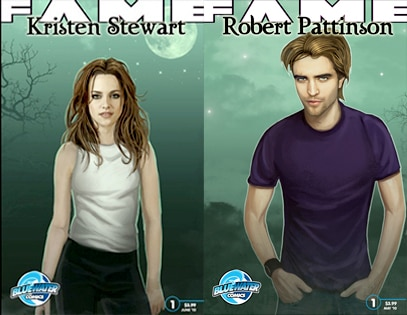 Kristen Stewart, Robert Pattinson, Comic