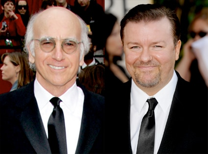 Larry David, Ricky Gervais