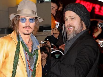 Johnny Depp, Brad Pitt