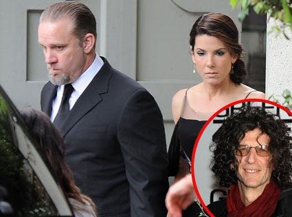 Jesse James, Sandra Bullock, Howard Stern