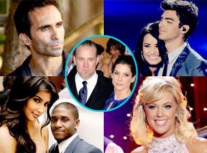 Nestor Carbonell, Joe Jonas, Demi Lovato, Kim Kardashian, Reggie Bush, Kate Gosselin, Jesse James, Sandra Bullock