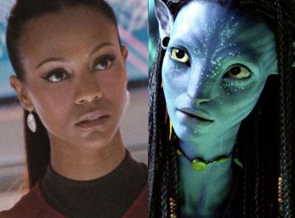 Zoe Saldana, Star Trek, Avatar