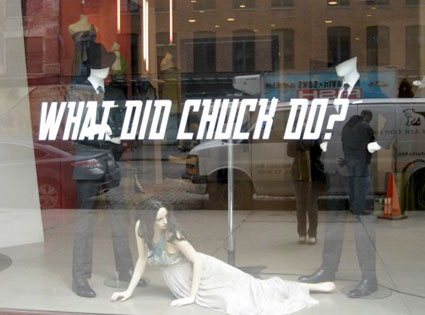 Matthew Williamson, What Did Chuck Do, Window Display