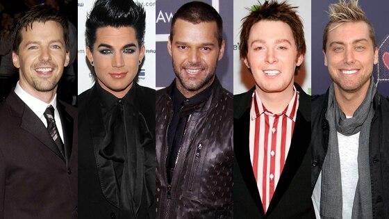 Sean Hayes, Adam Lambert, Ricky Martin, Clay Aiken, Lance Bass