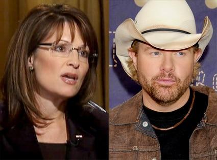 Sarah Palin, Toby Keith