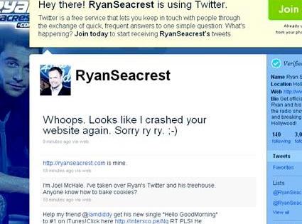 Ryan Seacrest, Twitter