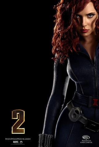 Scarlett Johansson, Iron Man 2 Poster