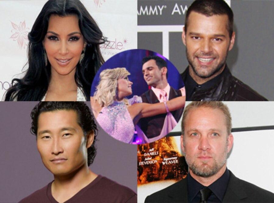 Kim Kardashian, Ricky Martin, Daniel Dae Kim, Lost, Jesse James, Kate Gosselin, Tony Dovolani
