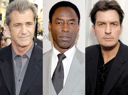 el Gibson, Isaiah Washington, Charlie Sheen