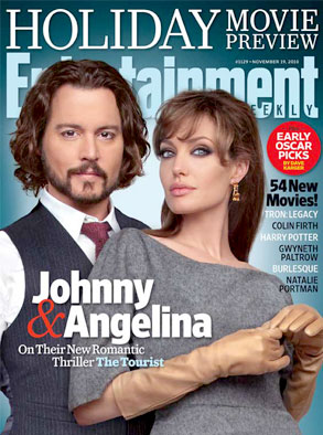 Angelina Jolie, Johnny Depp, Entertainment Weekly Cover