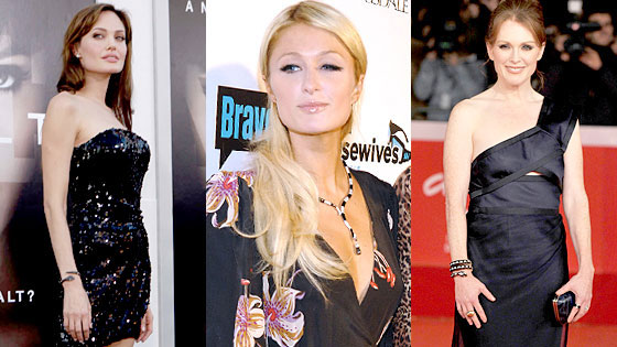 Angelina Jolie, Paris Hilton, Julianne Moore