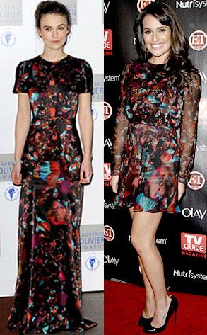 Keira Knightley, Lea Michele