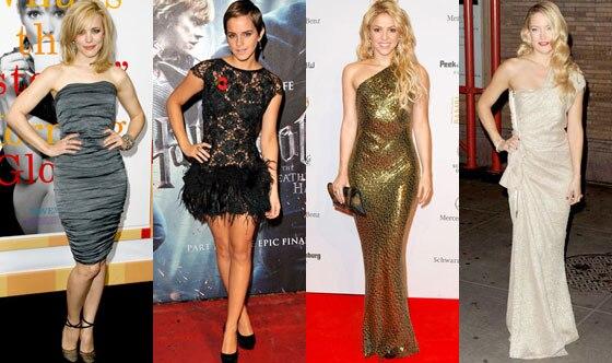 Rachel McAdams, Emma Watson, Shakira, Kate Hudson