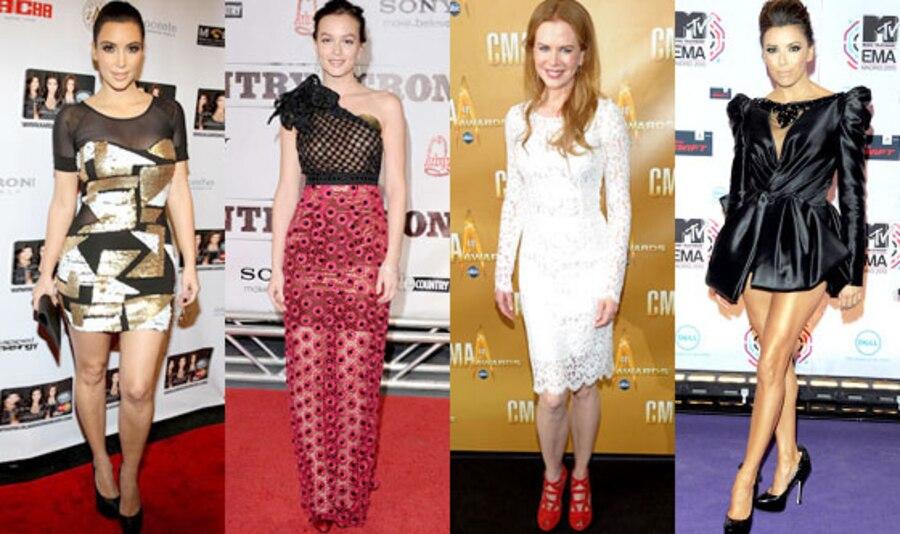 Kim Kardashian, Leighton Meester, Nicole Kidman, Eva Longoria Parker