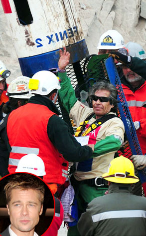 Chilean Miners,  Brad Pitt
