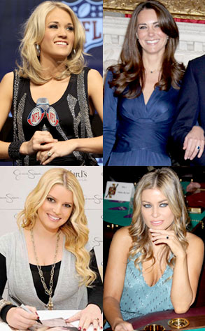 Carrie Underwood, Kate Middleton, Jessica Simpson, Carmen Electra