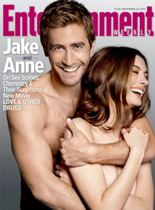 Jake Gyllenhaal, Anne Hathaway, EW Cover