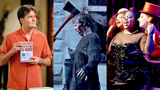 Two and a Half Men, Walking Dead, Glee