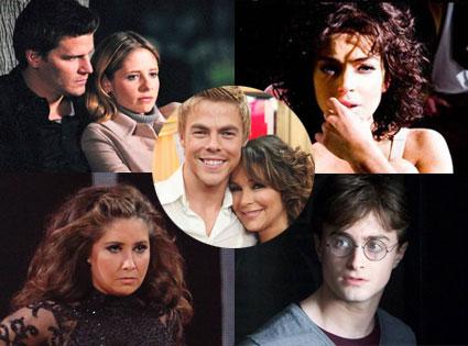 Sarah Michelle Gellar,David Boreanaz, Buffy, Daniel Radcliffe, Lindsay Lohan, Bristol Palin, DWTS, Jennifer Grey, Derek Hough