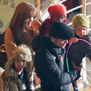 Brad Pitt, Angelina Jolie, Shiloh Pitt-Jolie, Maddox Jolie-Pitt, Zahara Jolie-Pitt