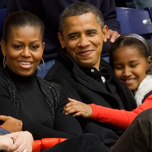 Barack Obama, Sasha Obama, Michelle Obama