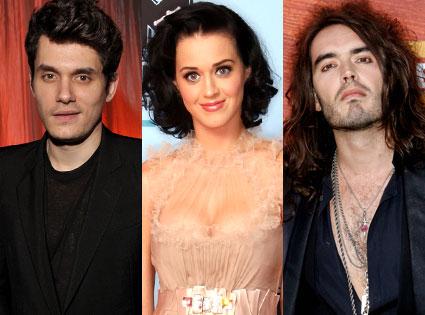John Mayer, Katy Perry, Russell Brand