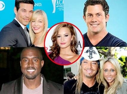 LeAnn Rimes, Eddie Cibrian, Julien Hug, Kanye West, Bret Michaels, Trish Cyrus, Demi Lovato