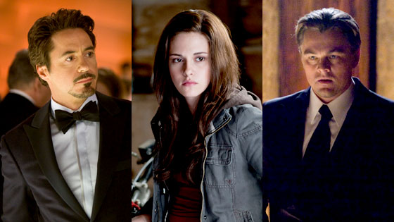 Robert Downey Jr., Kristen Stewart, Leonardo DiCaprio