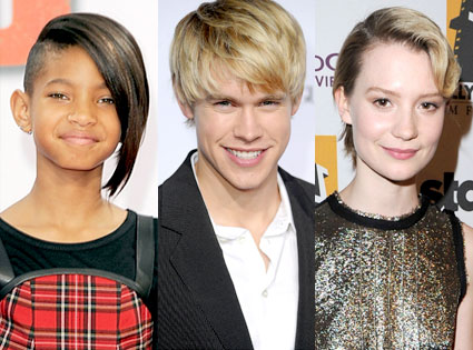 Willow Smith, Chord Overstreet, Mia Wasikowska