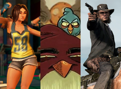 Dance Central, Angry Birds, Red Dead Redemption