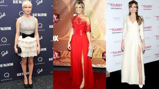 Michelle Williams, Carrie Underwood, Angelina Jolie