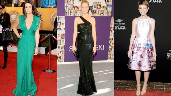 Lea Michele, Gwyneth Paltrow, Carey Mulligan