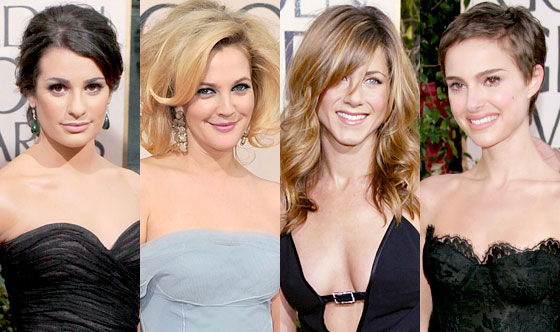Lea Michele, Drew Barrymore, Jennifer Aniston, Natalie Portman