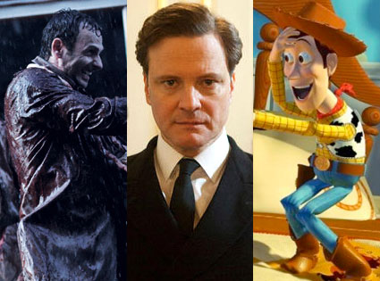 King's Speech, Toy STory 3, Walking Dead