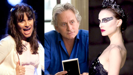 Lea Michele, Glee, Michael Douglas, Wall Street: Money Never Sleeps, Natalie Portman, Black Swan