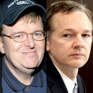 Michael Moore, Julian Assange