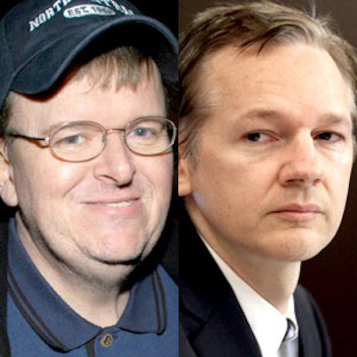 Michael Moore, Julian Assange