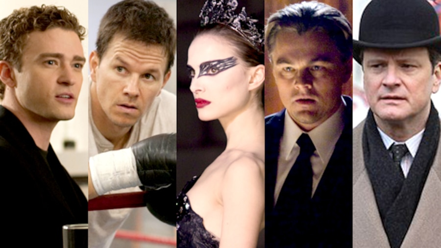 Social Network, The Fighter, Black Swan, Inception, The Kings Speech/