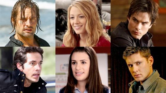 Lost, Josh Holloway, Gossip Girl, Blake Lively, Vampire Diaries, Ian Somerhalder, Chuck, Zachary Levi, Glee, Lea Michele, Supernatural, Jensen Ackles