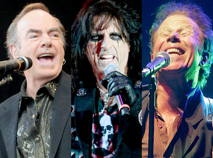 Neil Diamond, Alice Cooper, Tom Waits