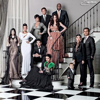 Kardashian Family Christmas Card 2010