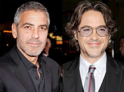 George Clooney, Robert Downey Jr.