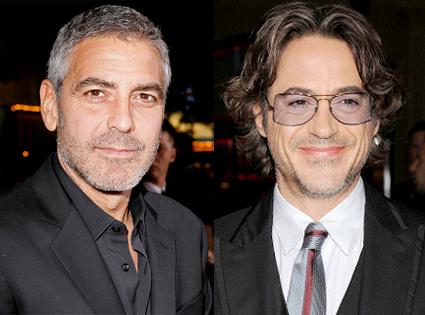 George Clooney, Robert Downey Jr.
