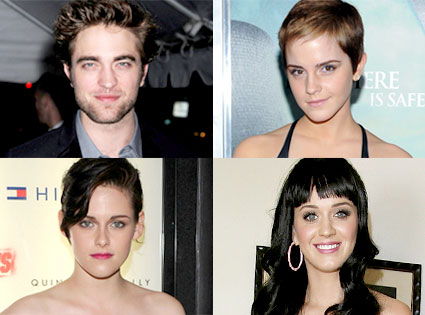 Robert Pattinson, Emma Watson, Kristen Stewart, Katy Perry