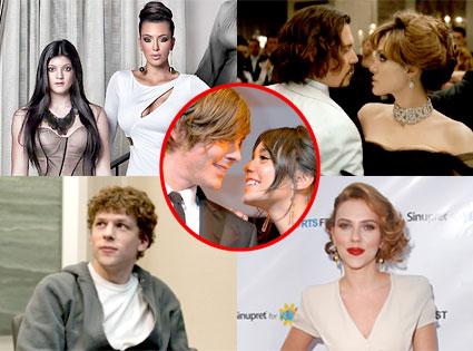 Kardashian Christmas Card, Johnny Depp, Angelina, The Tourist, Jesse Eisenberg, The Social Network, Scarlett Johansson, Zac Efron, Vanessa Hudgens