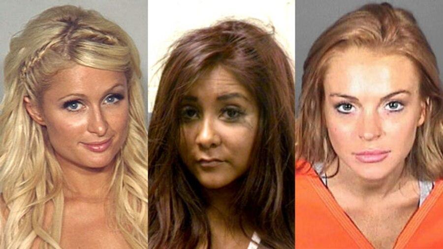 Paris Hilton, Snooki, Nicole Polizzi, Lindsay Lohan, Mugshot