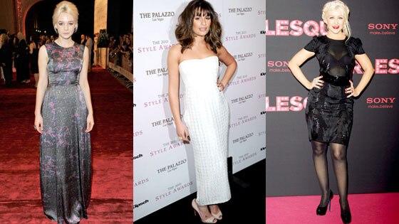 Carey Mulligan, Lea Michele, Christina Aguilera